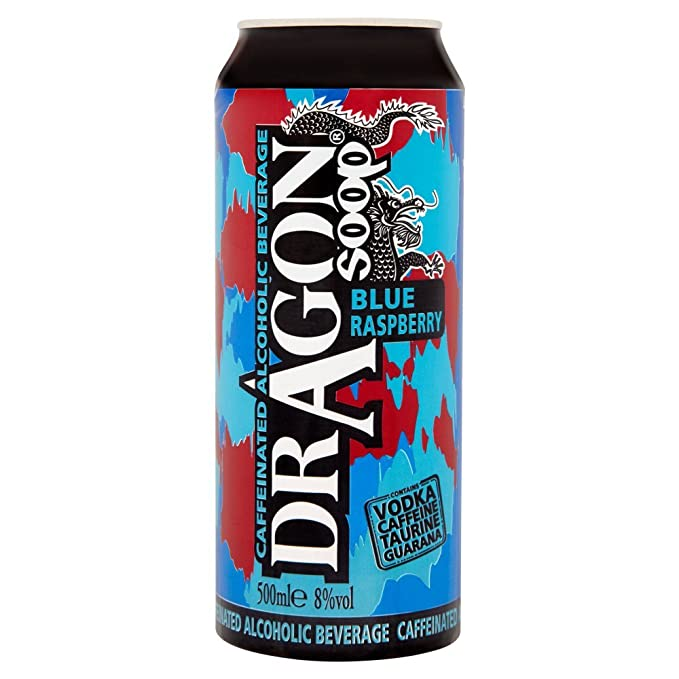 Dragon Soop Blue Raspberry Caffeinated Alcoholic Beverage (8 x 500ml Cans)