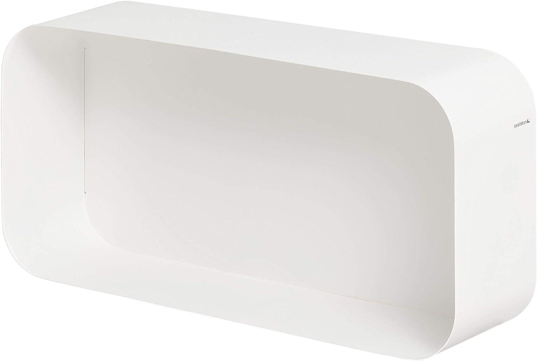 Abmessung: 24 x 24 x12 cm Sealskin Brix Wandregal Quadrat H/ängeregal aus pulverbeschichtetem Metall Farbe: Schwarz
