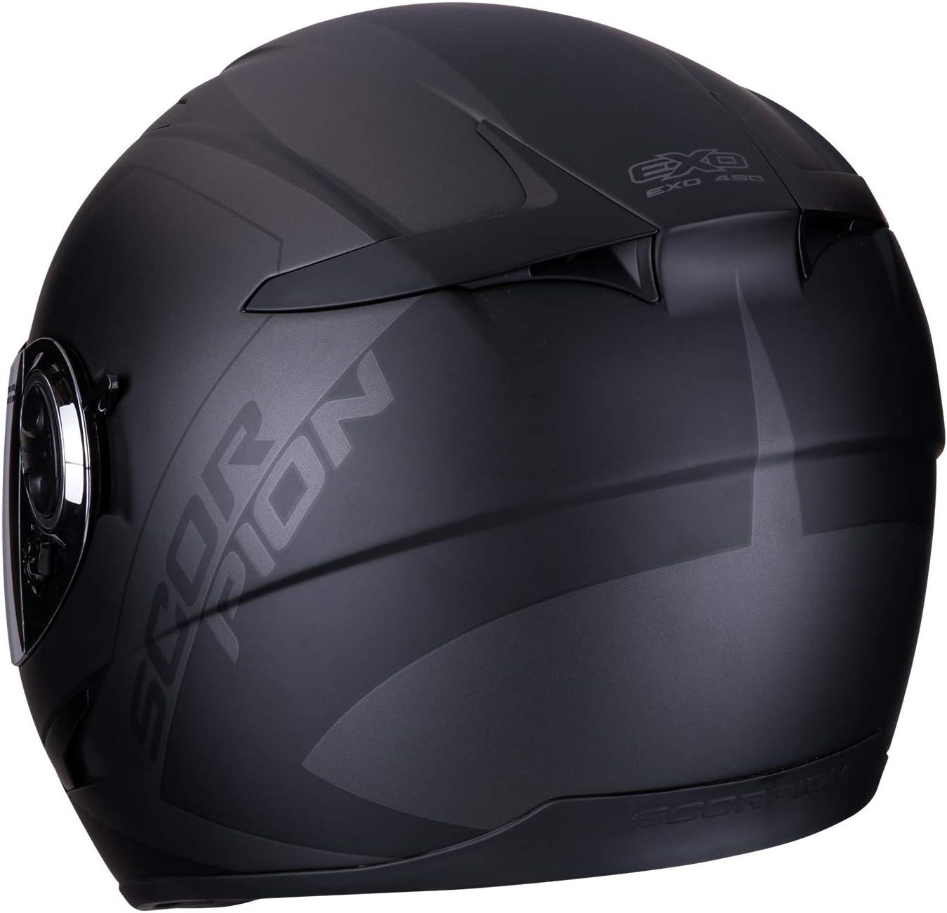 Scorpion Motorradhelm EXO-490 PACE Matt black-Silver S Schwarz//Grau