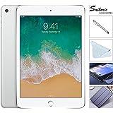 "Apple iPad Mini 4 128GB W/Saiborie 49.99 Value Accessories, 7.9"" Retina Display, 2GB RAM, Dual-Core A8 Chip, Quad-Core Graphics, Wi-Fi, MIMO, Bluetooth, Apple iOS 9 (Silver)"