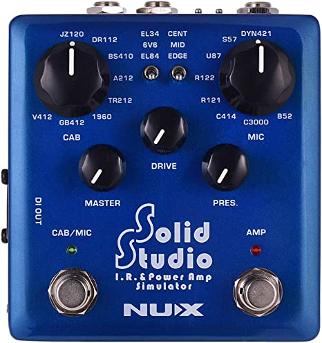 NUX Solid Studio IR y Simulador de Amplificador de Potencia Efecto ...