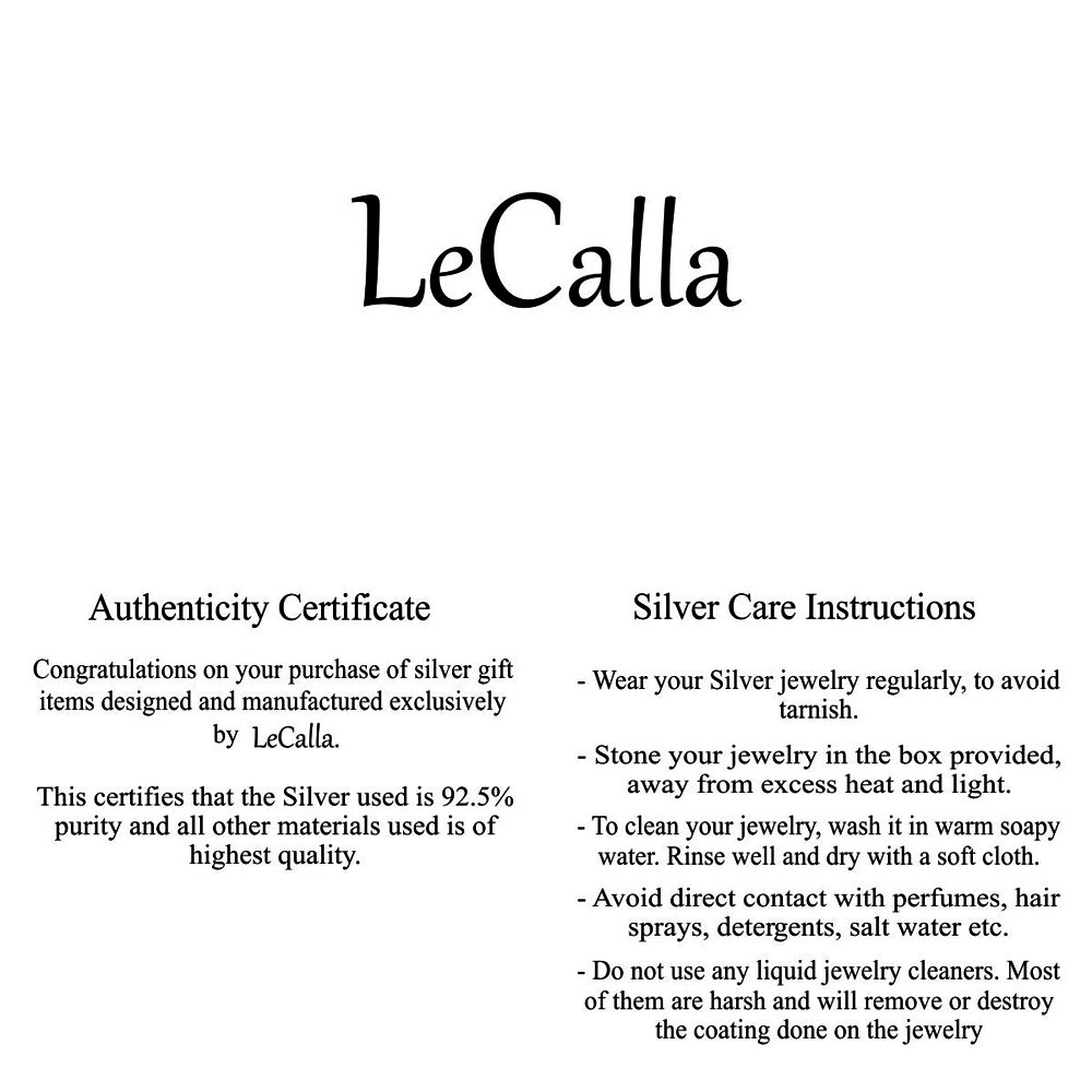 LeCalla Sterling Silver Jewelry Light Weight Huggie Earrings for Girls