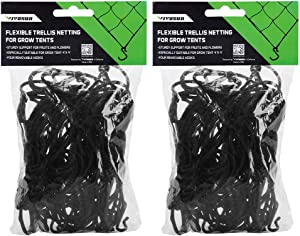 VIVOSUN 2-Pack 3x3FT Elastic Trellis Netting with Hooks for Grow Tents