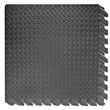 GiODLCE Puzzle Exercise Floor Mat, Protective Flooring Mats EVA Foam Interlocking Tiles for Home Gym Equipment Matting, 6Pcs