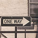 One Way Street Sign Industrial Wall Mural