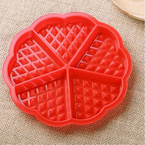 Amazon.com: DDLmax Mould, Silicone Waffles Mould Pan Cake Baking Baked Muffin Cake Chocolate Mold Tray: Kitchen & Dining