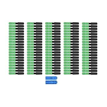 Amazon.com: 100pcs Cable adaptador de fibra óptica SC/APC ...