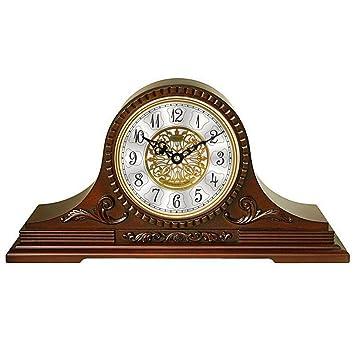 TtKj Hora de música Retro Relojes Reloj Mesa Living silenciar de la albergue Decorar Reloj de Abuelo 46,3 * 24 * 12 cm: Amazon.es: Hogar