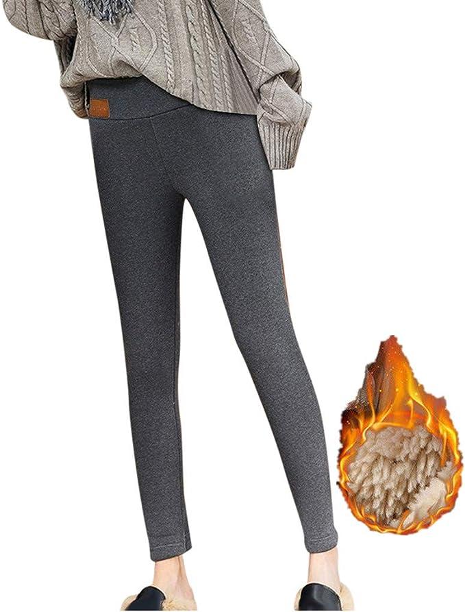 KRISP Damen Thermoleggings Winter Fleece Gef/ütterte Thermo Jeggings Leggings