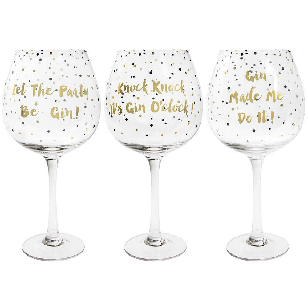 Gold Edition Gin Glass - Gin Balloon Glass - Assorted 1 Glass Picked at Random Lesser & Pavey