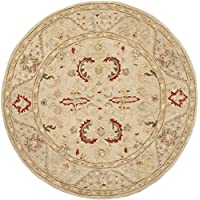 Safavieh Anatolia Collection AN570A Handmade Traditional Oriental Beige Wool Round Area Rug (6 Diameter)