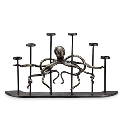 Amazon Com Viridian Bay Octopus Fireplace Candelabra Home Kitchen