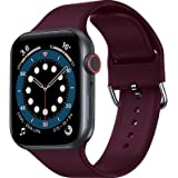RARF Sport Bands Compatible with Apple Watch 38mm 40mm 42mm 44mm for Women Men, Soft Silicone Sport Replacement Strap Compati