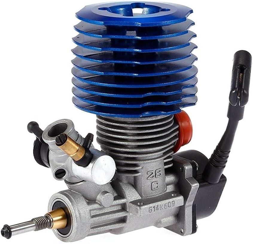 GzxLaY Nuevo para HSP RC Car 1: 8 Buggy Engine SH 28 CXP Engine M28-P3 4.57CC 3.8Hp 33000 RPM Side Escape Pull Arrancador Repuestos Accesorios