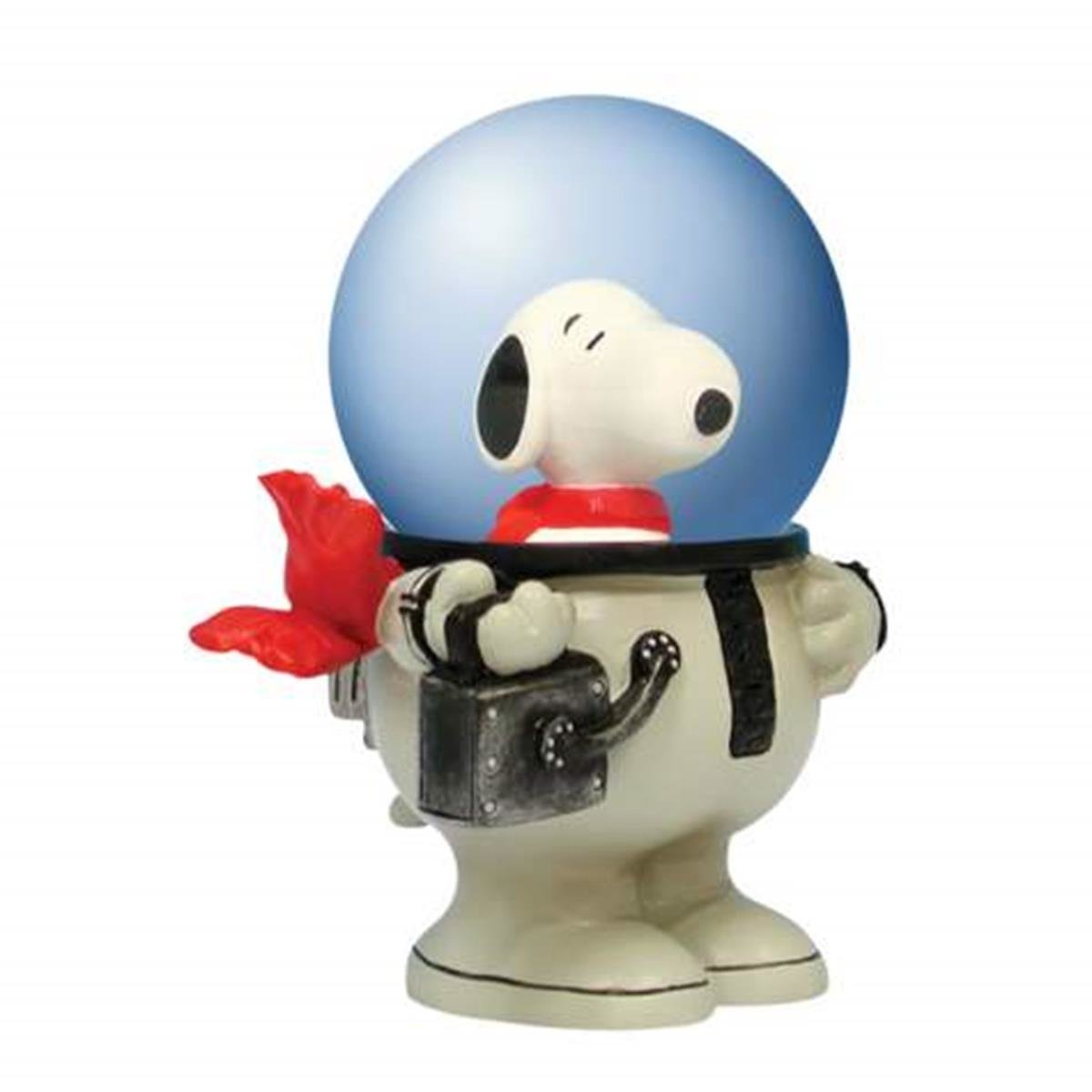 WL SS-WL-18238, 45mm Peanuts Snoopy the Dog in White Astronaut Suit Water Globe