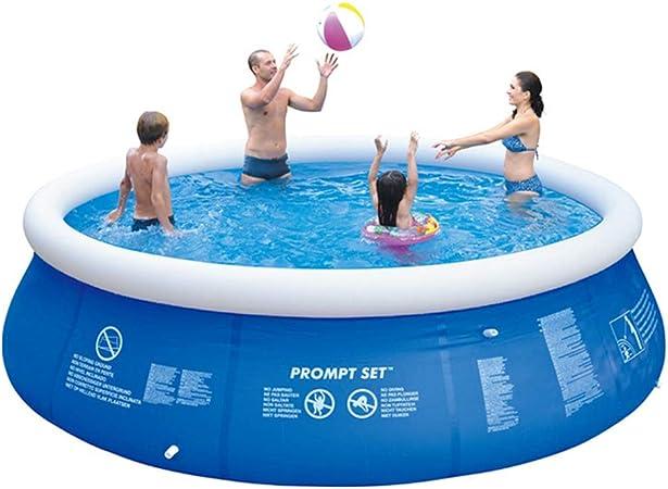 Super11Six 10202 Piscina sobre Suelo de fácil instalación, con Bomba de Aire- Redonda Nadar Piscina- 4800 litros- 300 × 76 cm, hasta Ocho Personas,Azul: Amazon.es: Hogar