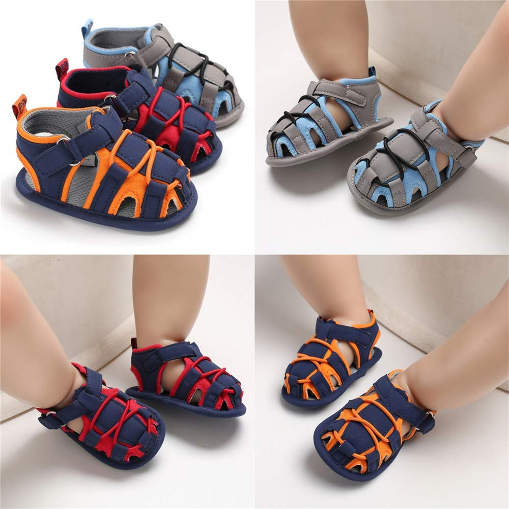 COSANKIM Infant Baby Boys Girls Summer Sandals Non Slip Soft Sole Toddler First Walker Crib Shoes 0-18 Months