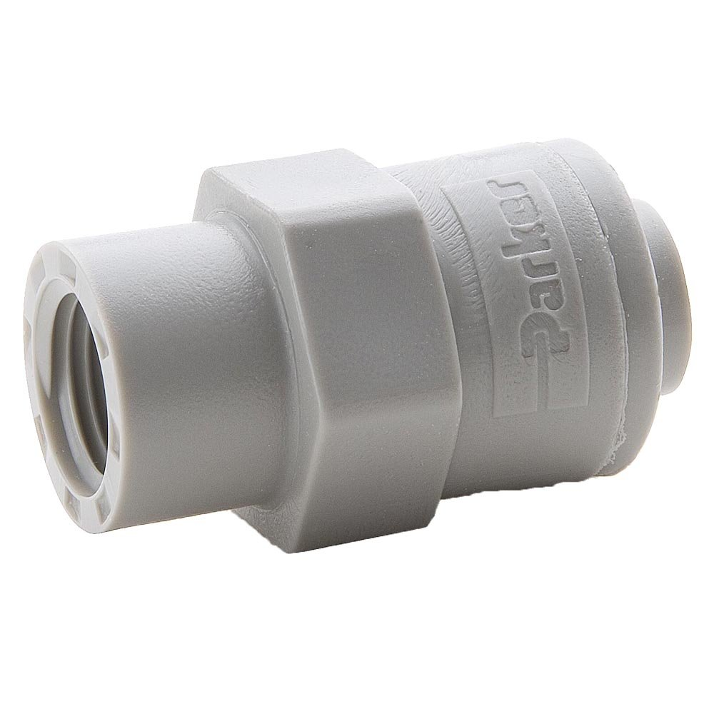 1//2 Tube to Female Pipe 3//8 Push-to-Connect and Female Pipe Connector Parker A6FC8-MG-pk5 Push-to-Connect All Plastic FDA Compliant Fitting Pack of 5 Acetal Trueseal