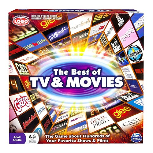 Spin Master Games: Best of TV and Movies Board Game - Test Your Knowledge of 100's of TV Shows and Movies - 2-6 Players - Includes Over 400 Cards - Hours of Family Friendly Entertainment ()