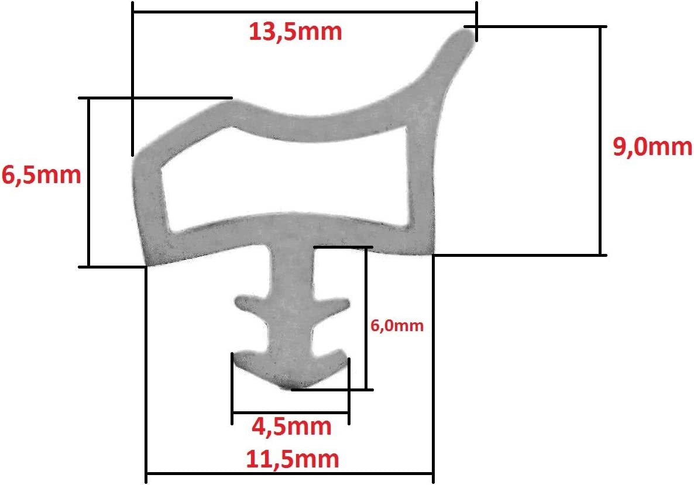 Transparent//klar SN T/ürdichtung Zimmert/ürdichtung mit Anschlag-Nase je 5 Meter