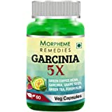 Morpheme Remedies Garcinia 5X (Garcinia Cambogia, Green Coffee, Green Tea, Forskolin, Grape Seed) - 60 Veg Capsules