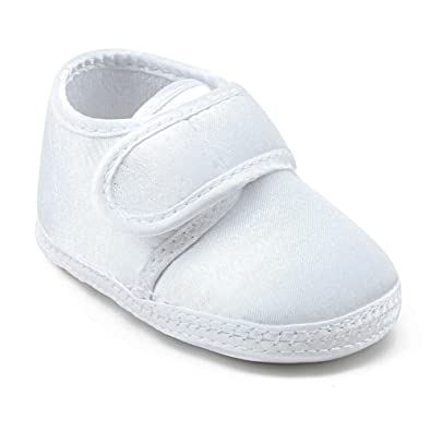 OOSAKU Baby Boy Girls Infant Lace up Soft Sole Stain Christening Baptism Shoes First Walking Sneakers