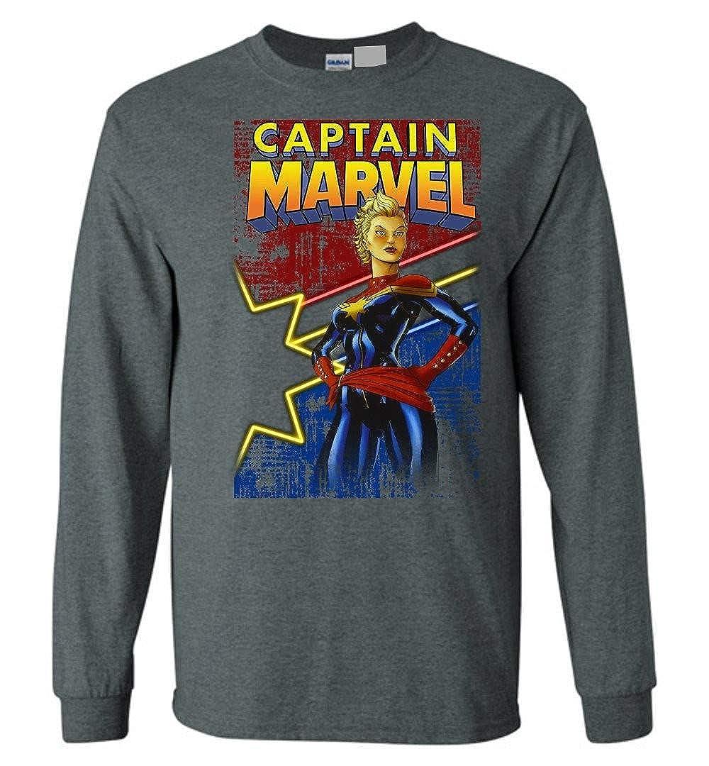 TSHIRTAMAZING Captain-Mavel Hero Comic Star Long Sleeve