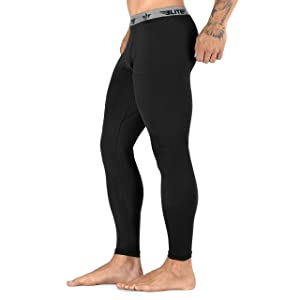 Best BJJ Leggings - Elite Sports Workout Standard MMA BJJ Spats Base Layer Compression Pants Tights