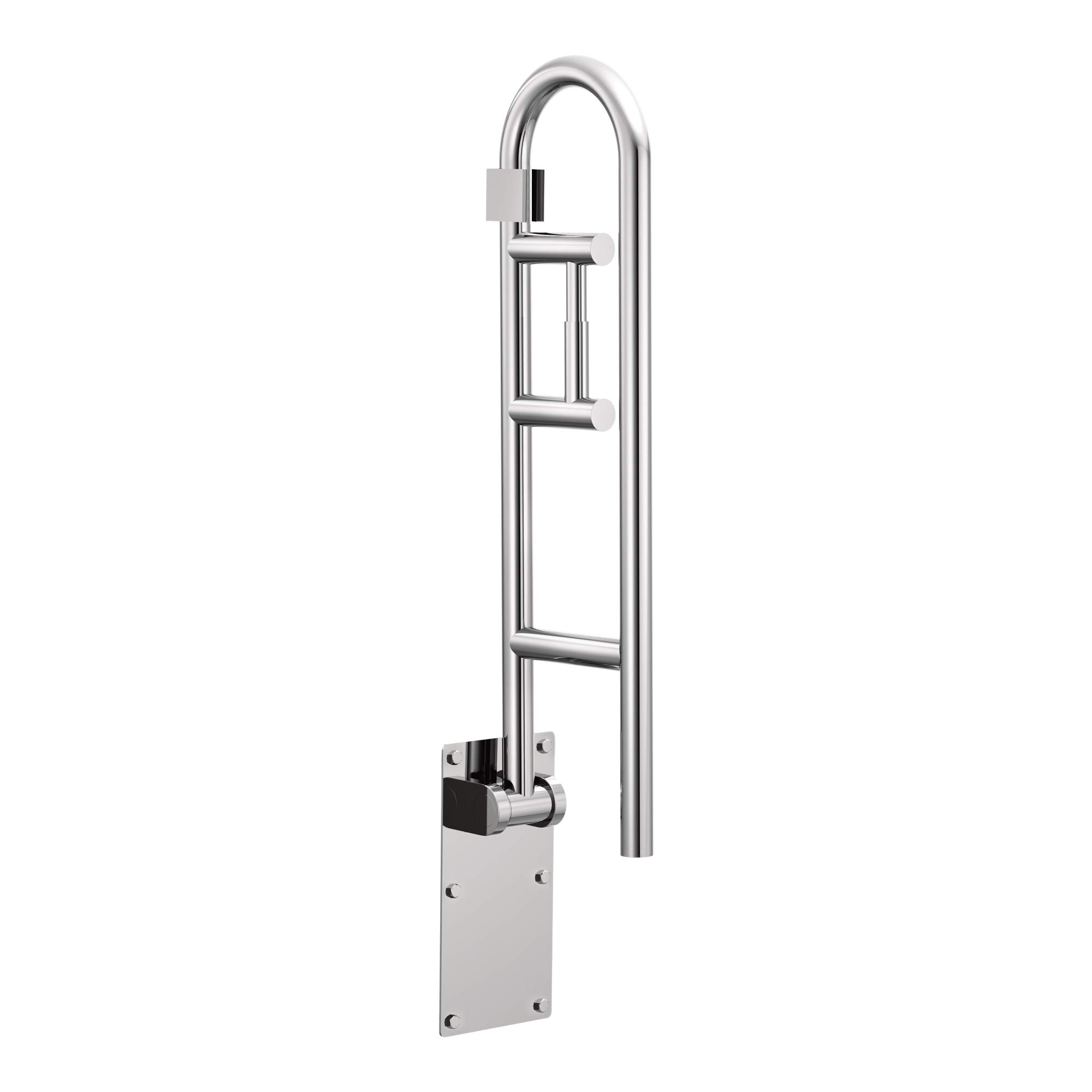 Moen R8962FD Home Care 30-Inch Flip-Up Bathroom Grab Bar with Toilet Paper Holder, Stainless by Moen