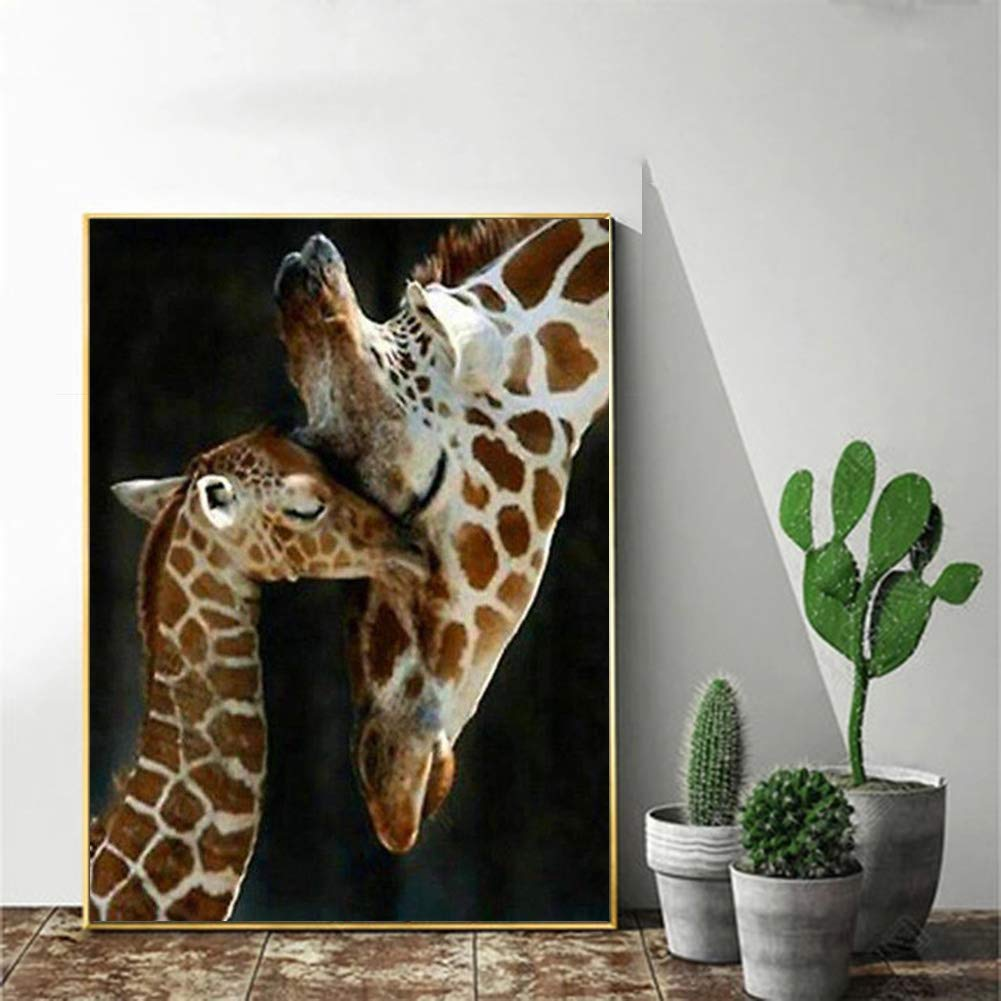 5D Diamond Painting Kit Full Drill,5D Round Full Drill Art Perfect for Relaxation and Home Decor Giraffe 11.8x15.7in 1 Pack By AxiEr