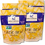 Non-GMO Project Verified Citric Acid - 20 Pounds (4-5 lb bags) - Organic, 100% Pure - Alpha Chemicals