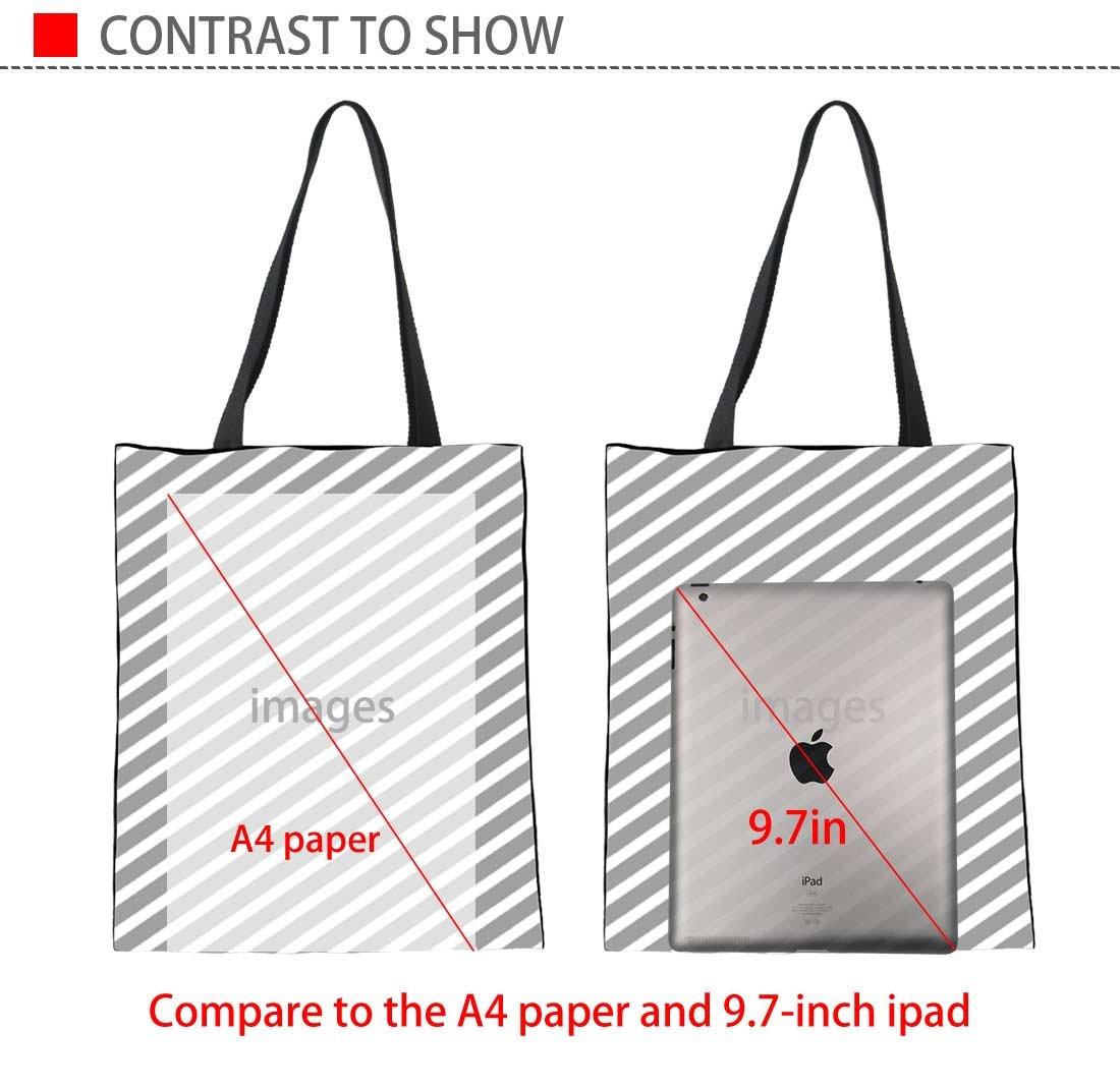 Upetstory Canvas Tote Bag Lovely Cat Animal Print Handbag for College Girls Women Shopping Beach Travel Bag by Upetstory (Image #4)