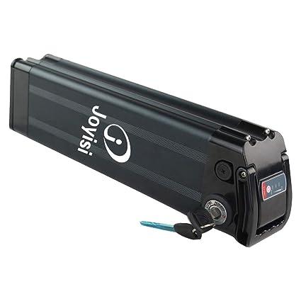 Joyisi 48V 10AH / 36V 15AH Ebike Battery, Li-ion Bike Battery with Charger,  Power Display, BMS Protection Board for 750W / 500W Bike Motor