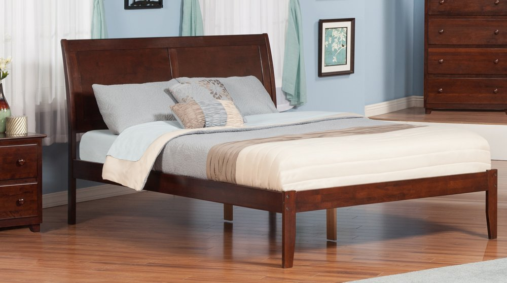 Amazon.com: Atlantic Furniture Portland Open Foot Bed, King, Antique ...