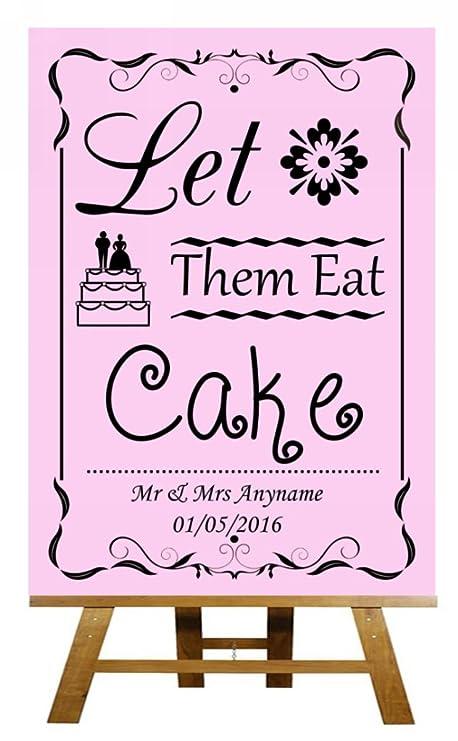 A4 Vintage rosa Let Them Eat Cake diseño de pizarra con ...