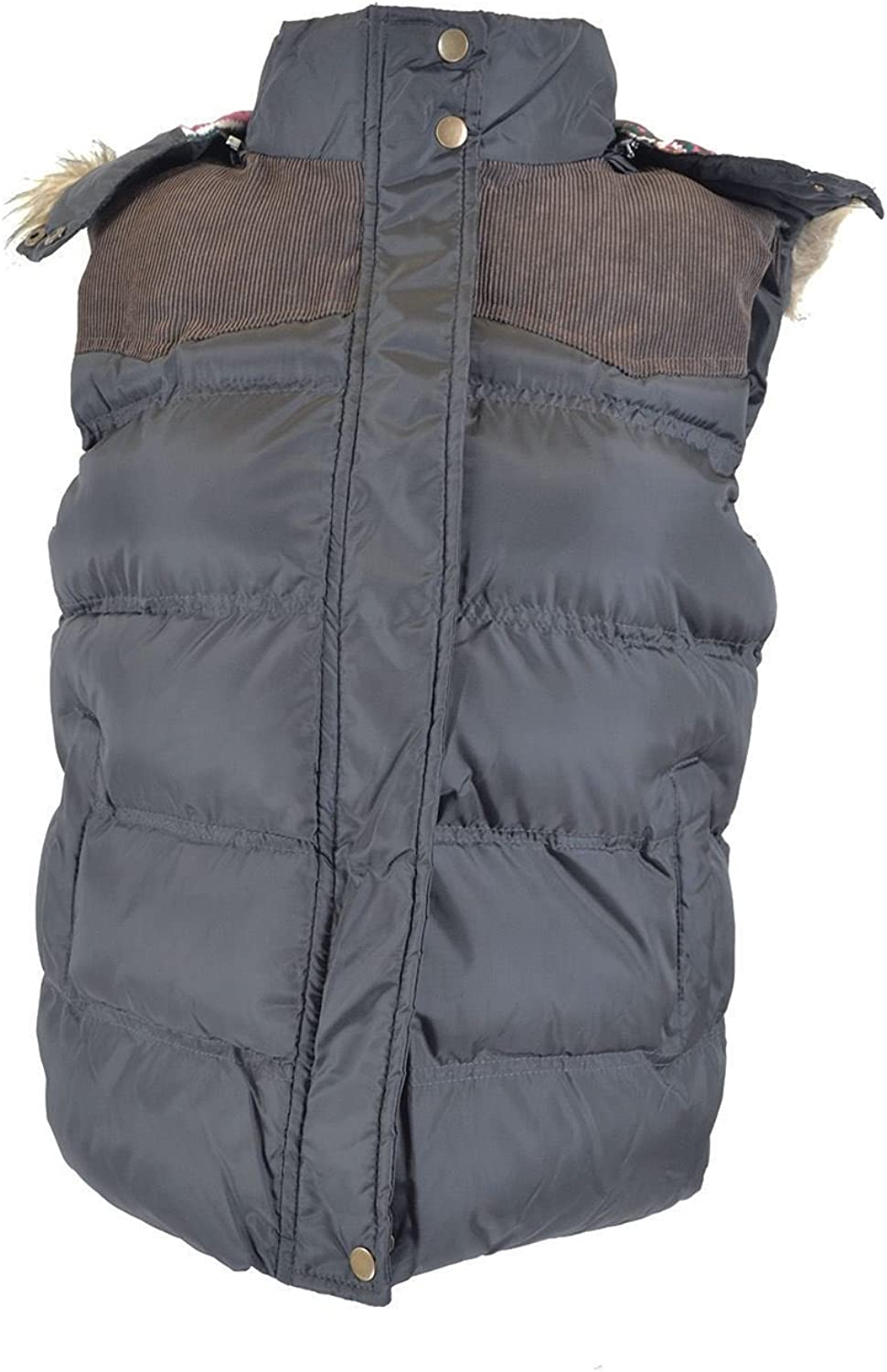 Mymixtrends/® Womens Winter Hooded Padded Gilet Faux Fur Body Warmer Coat