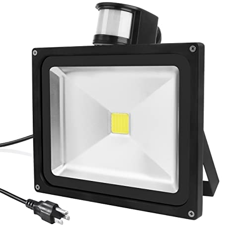 warmoon outdoor flood light 50w led security motion sensor lights
