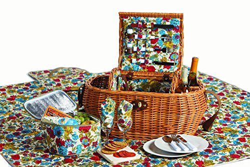 Picnic Plus Big Willow Picnic Basket With Waterproof Back...