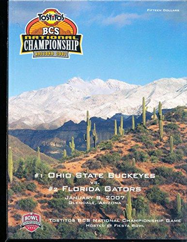 2007 Florida vs Ohio state Football BCS Bowl championship Program ()