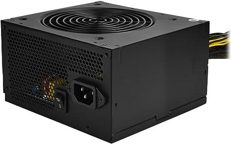 3 x MOLEX Black 700W ATX PC Alimentatore PSU con ventola silenziosa 120 mm e PCI-E 6+2-Pin 6 x SATA 24-PIN 1 x Floppy 8-PIN 12V