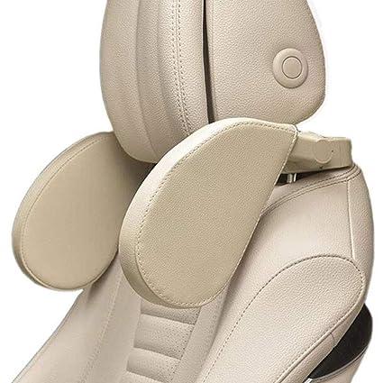 Asientos, bancadas y accesorios Car Pillow Pair Headrest Neck Pillow Seat Back Waist Rely On Pillowcase For Four Seasons Universal Yellow