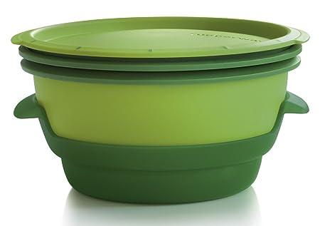 Tupperware Contenedor de plástico para microondas y Vapor, Incluye ...