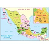 Michelin Official States and Regions of Mexico Map Art Print Poster 19 x 13in