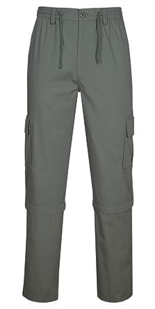 b0a345b710ef Herren Cargo Hose Zip Off, 2 in 1 Outdoorhose Sommer Freizeithose  Baumwoll-Mix-