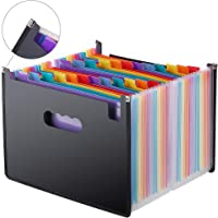 Expanding File Folder 24 Pockets, Multi-Color Accordion A4 Document Organizer with Expandable Wallet Stand – Works on A4…