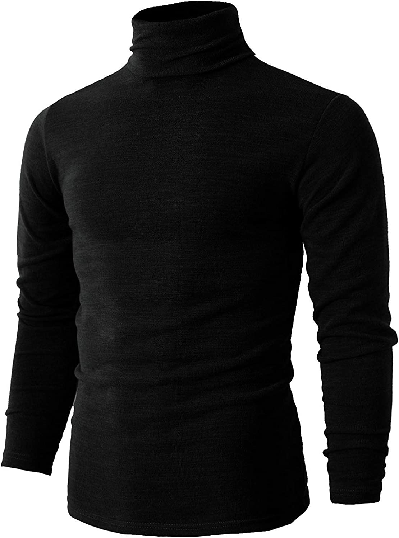 Romanstii Camiseta de Manga Larga para Hombre Jersey Básico de Algodón