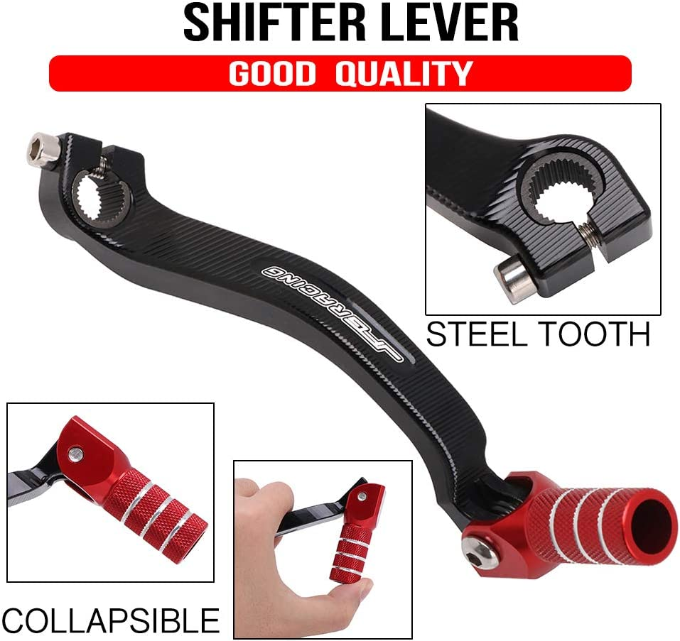 JFG RACING Motorcycle Folding Shift Gear Shifter Lever CNC for Honda CRF250R CRF 250R 2010 2011 2012 2013 2014 2015