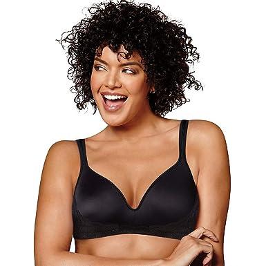 e8da8d0e8326c Playtex Womens Love My Curves Side Smoothing Wirefree Bra (US0002) -Black  -36C