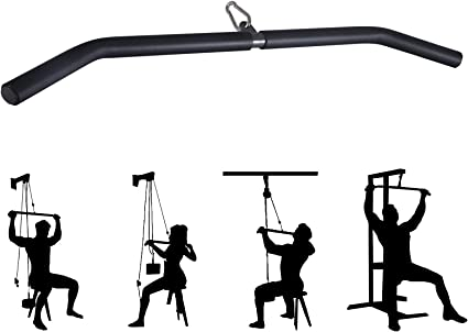 LAT Pull-down Rod Non-slip Handle ZLLM Lat Pulldown Lat Pulldown High Pull-down Long Rod Pull Back Handle Fitness Cable Accessories Multifunctional Sports Fitness Equipment