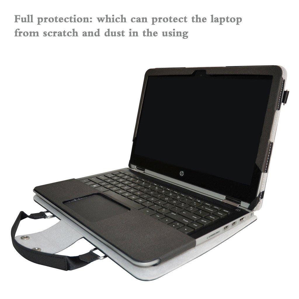 Labanema ASUS TP410UA TP410UR Housse,2 en 1 sp/écialement con/çu Etui de Protection en Cuir PU Sac Portable Sacoche pour 14 ASUS VivoBook Flip 14 TP410UA TP410UR Series Ordinateur,Noir